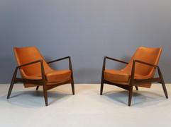 """SOLD Ib Kofod-Larsen """"Seal"""" Chairs"""
