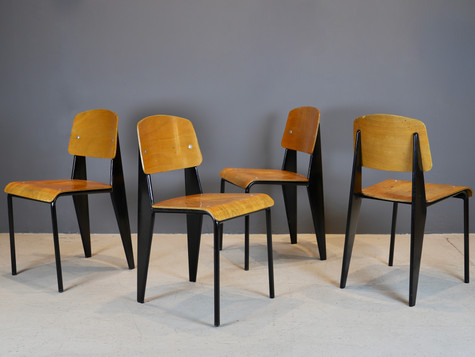 Four Standard Chairs - Jean Prouve
