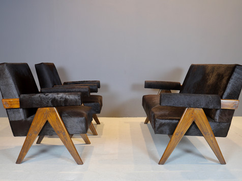 Pierre Jeanneret - Couch and Lounge Chairs