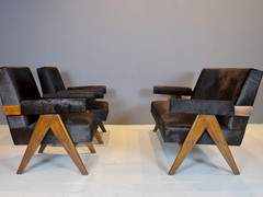 SOLD Pierre Jeanneret - Couch and Lounge Chairs
