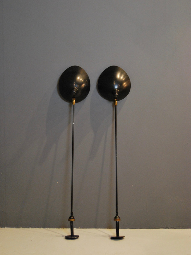 Pair of Wall Lamps by Serge Mouille