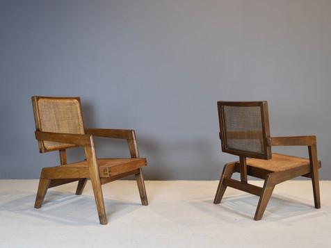 Pierre Jeanneret- Rare Armchairs, ca 1960