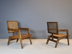 SOLD Pierre Jeanneret- Rare Armchairs, ca 1960