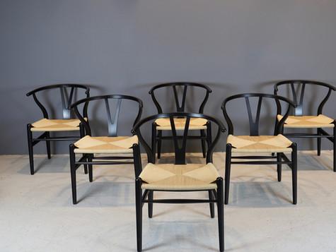 """Hans Wegner """"Wishbone"""" Chairs"""