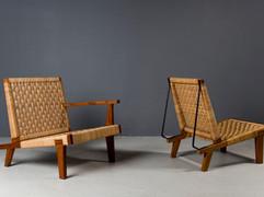 HOLD Michael Van Beuren Low Chairs, 1940s