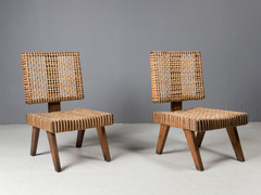 Corbusier/ Jeanneret Low Lounge Chairs, 1950s