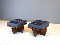 "SOLD Pair of ""Greenrock"" Stools  - George Nakashima"