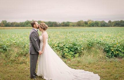 bride groom love field trees forest