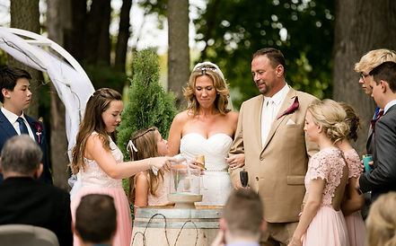 bride groom family trees grove forest ceremony