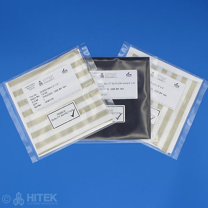 Fabric evaluation kit containing swatches of EeonTex and Zebra conductive fabric