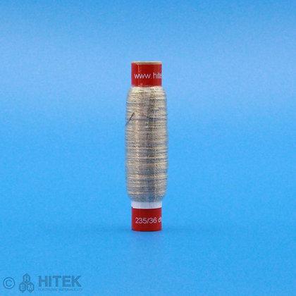 50 metres of Shieldex  235/36 dtex 2-ply HC + B conductive yarn wound around cardboard tube