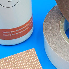 Group of Shieldex's Copper Tape Handle Covers, Copper Tape Flex and Copper Tape Cleaner