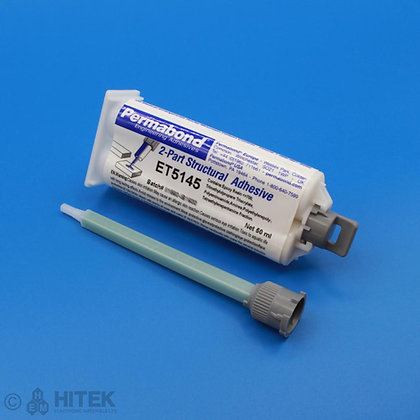 50ml dual cartridge of Permabond ET5145 epoxy adhesive with 120mm mixing nozzle
