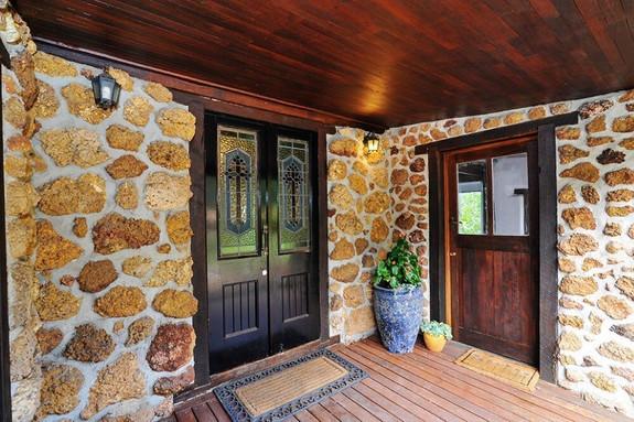 Main house doors