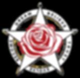 Colour logo transparent red rose cutouts