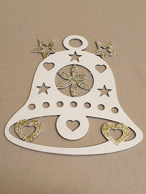 Zvoneček s hvězdami (dekorace do okna)
