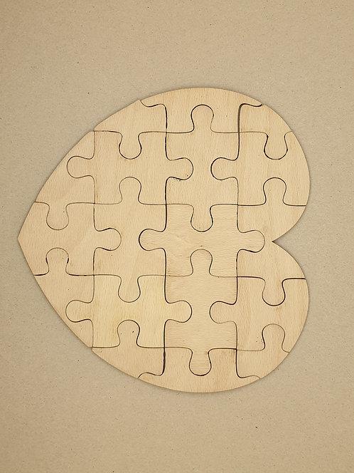Skládací puzzle ve tvaru srdce