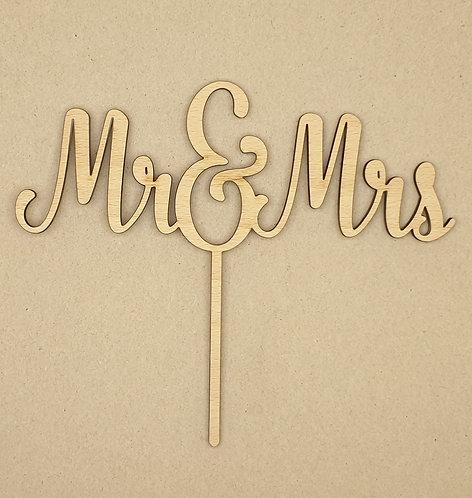 """Dortový zápich """"Mr & Mrs"""""""