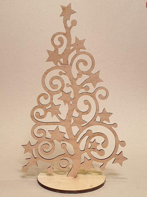 Vánoční stromek kroucený s hvězdami