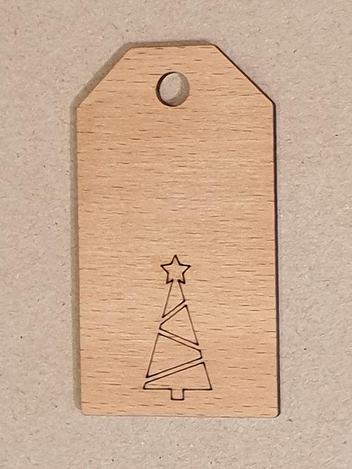 Jmenovka na dárky s vánočním motivem 5