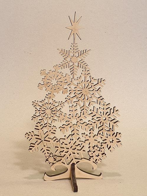 Vánoční stromek s vločkami
