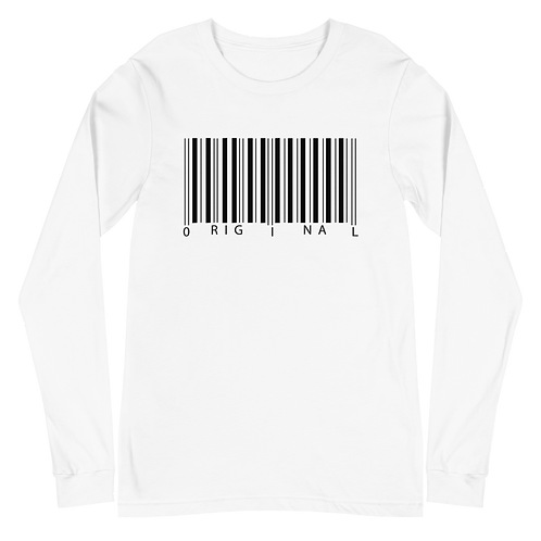 Black Barcode Long Sleeve Tee