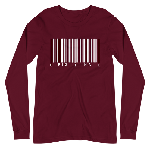 White Barcode Long Sleeve Tee