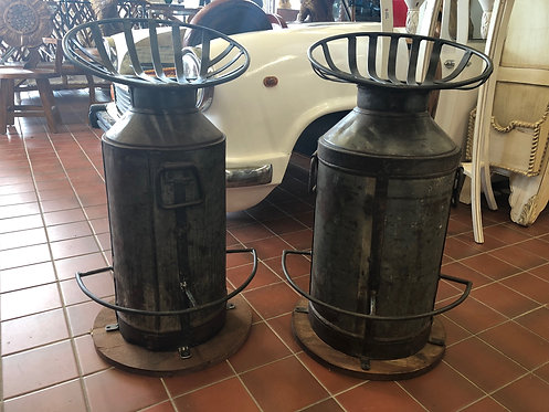 Reused Milk Jug Iron Stools