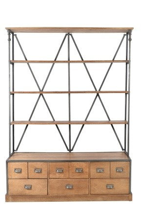 9 Drawer Library Shelf