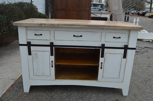 Barn Sliding Door TV Media Cabinet
