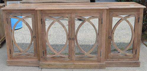 Wood Mirrored Sideboard