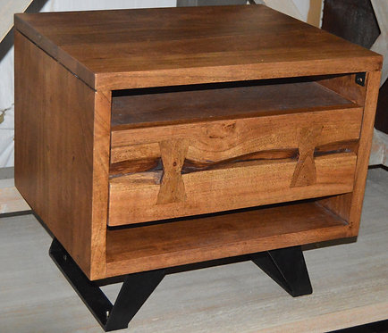 1 Drawer Bedside Nightstand with Drawer