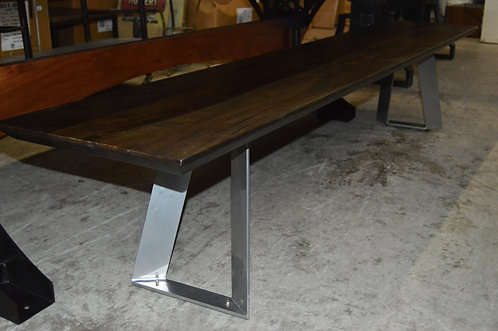 Acacia Dining Bench with Metal Legs