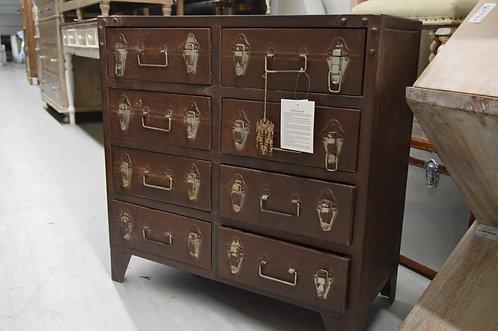Unique & Unusual Wood & Iron  Drawer Bureau