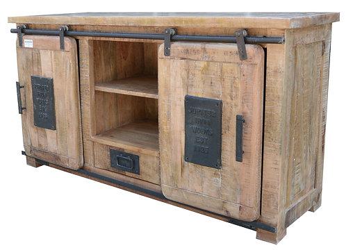 Sliding Door TV Cabinet Stand