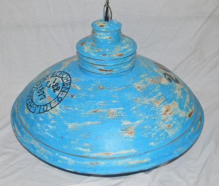 Blue Iron Hanging Light