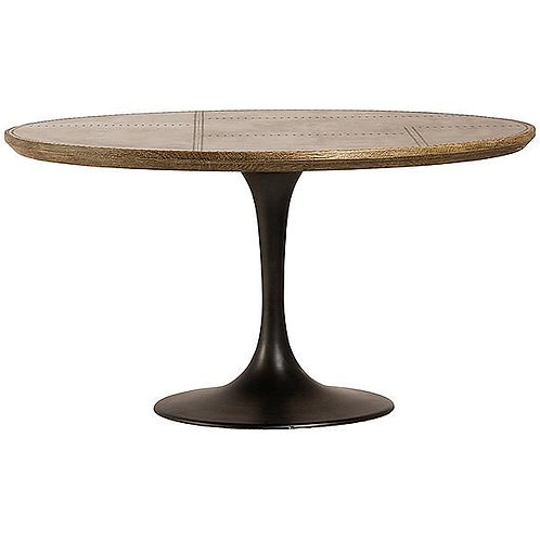Iron & Wood Round Dining Table
