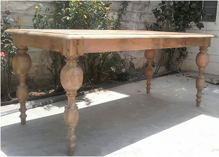 Barcelona Wood Dining Table 80""