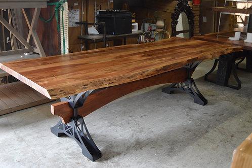 Acacia Live Edge Table with Metal Base