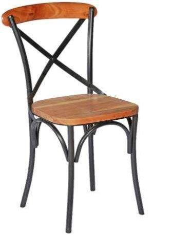 Acacia Metal Dining Chair