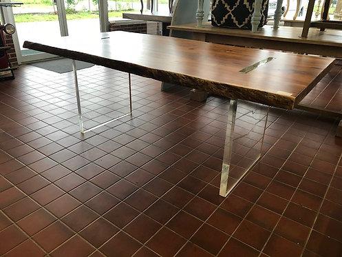 Acacia Live Edge Table With Acrylic Base