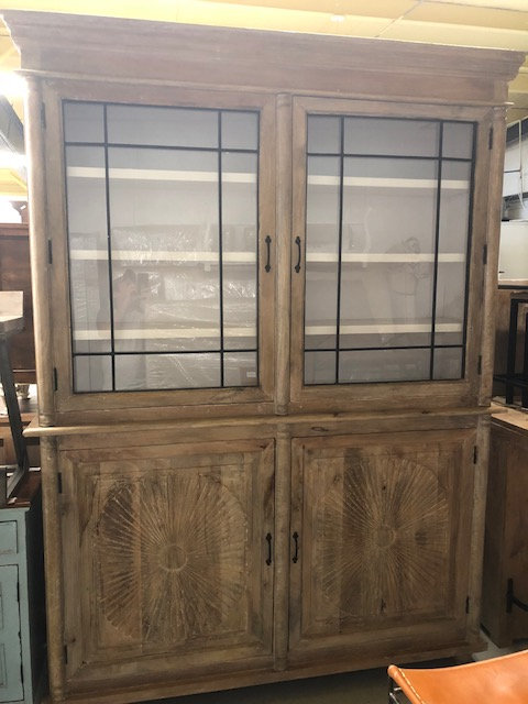 2 Part Glass Cabinet