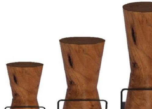 Counter Top Height Acacia Wood Stools