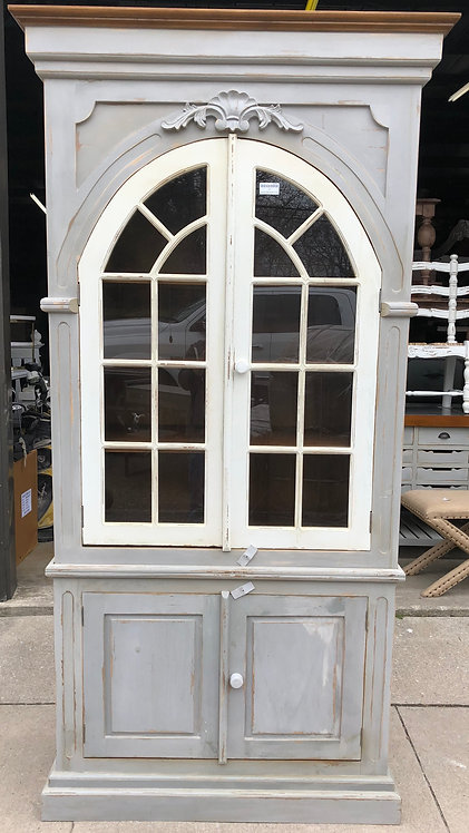 Tall Arched Corner Cabinet