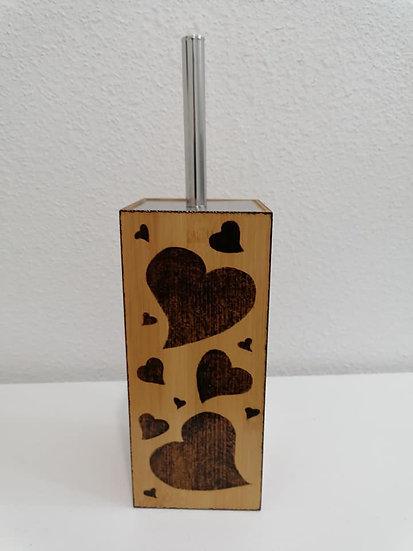 Brosse ou balai à récurer Thème coeur d'Alsace