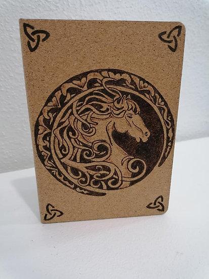 Cahier carnet de notes thème celtique Cheval celtique Pégase et Triskel
