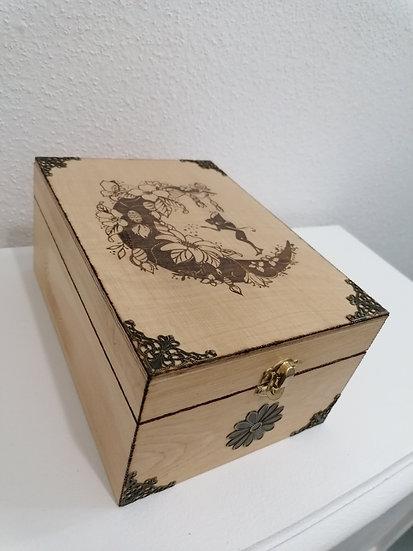 Boîte de rangement à huiles essentielles, thé bijoux, couture Fée de la lune