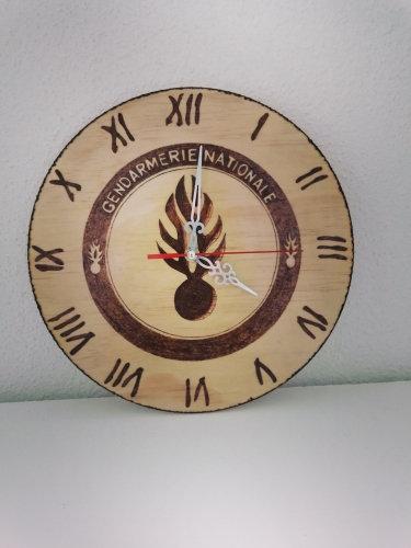 Horloge des métiers Gendarmerie Nationale personnalisable