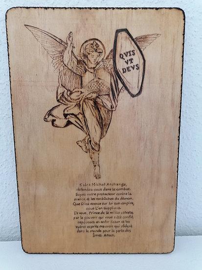 Portrait Saint Michel Archange avec prière de protection
