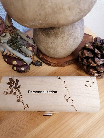 Etui à lunettes en bois personnalisé Le monde des fées